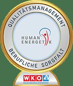 Qualitätssiegel Berufliche Sorgfalt Humanenergetik Julia Ledl